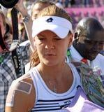 Radwanska gana 2012 WTA Bruselas abierta Imagen de archivo