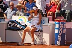 Radwanska gewinnt 2012 WTA geöffnetes Brüssel Stockbild