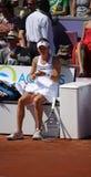 Radwanska gewinnt 2012 WTA geöffnetes Brüssel Lizenzfreies Stockbild