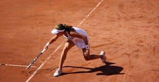 Radwanska gewinnt 2012 WTA geöffnetes Brüssel Stockbilder