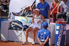 Radwanska vince 2012 WTA Bruxelles aperta Fotografie Stock Libere da Diritti