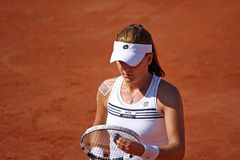 Radwanska vince 2012 WTA Bruxelles aperta Fotografia Stock Libera da Diritti