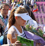 Radwanska wins 2012 WTA Brussels Open Stock Photography