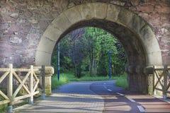 Radweg durch einen Tunnel Stockfotografie