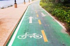 Radweg im Park Lizenzfreies Stockfoto