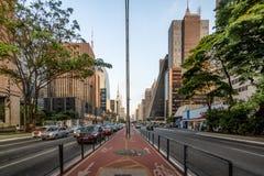 Radweg an Paulista-Allee - Sao Paulo, Brasilien Stockfotos