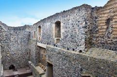 Radyne城堡,捷克废墟  免版税图库摄影