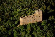 Radyne castle - air photo Stock Image