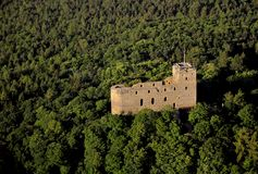 Radyne castle - air photo Stock Photos