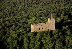 Radyne castle - air photo Stock Photos