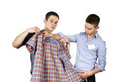 radzi odzieżowego sprzedawcy Obrazy Royalty Free