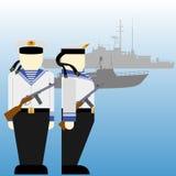 Radzieccy żeglarzi podczas Drugi wojny światowa Fotografia Stock