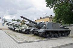 Radzieccy militarni zbiorniki Zdjęcie Royalty Free