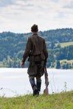 Radzieccy żołnierze drugi wojna światowa na rzece Obrazy Stock