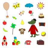 Radzieccy postać z kreskówki i ich zabawki Fotografia Stock