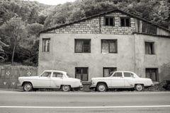 Radzieccy retro samochody Volga GAZ-21 Zdjęcia Stock