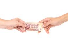 Radzieccy ruble w rękach. Zdjęcia Royalty Free