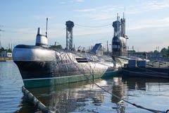 Radziecka łódź podwodna B-413 Kaliningrad Zdjęcie Royalty Free