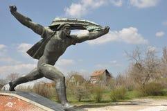 Radziecka żołnierz statua w Budapest zdjęcie royalty free