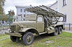 Radziecka wieloskładnikowa wyrzutni rakietowej katiusza Zdjęcie Stock