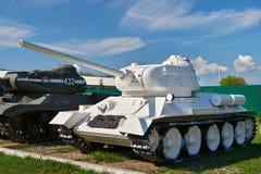 Radziecki średni zbiornik T-34-85 Biały kolor Fotografia Stock