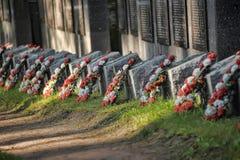 Radziecki cmentarz Fotografia Royalty Free