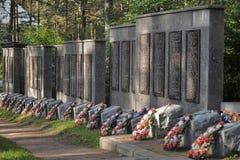 Radziecki cmentarz Zdjęcia Stock