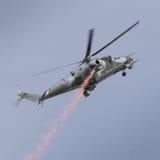 Radziecki ery Mi-24 Tylni helikopter Obraz Royalty Free
