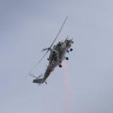 Radziecki ery Mi-24 Tylni helikopter Obrazy Royalty Free