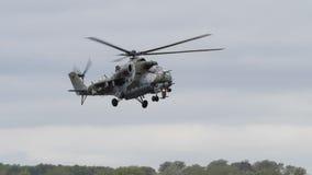 Radziecki ery Mi-24 Tylni helikopter Zdjęcia Stock