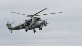 Radziecki ery Mi-24 Tylni helikopter Zdjęcia Royalty Free
