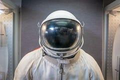 Radziecki kosmonauta, astronauta, kosmity hełm lub kostium i zdjęcia royalty free