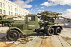 Radziecki militarny maszynowy retro eksponat militarny historyczny muzeum, Yekaterinburg, Rosja, 31 03 2018 Fotografia Royalty Free
