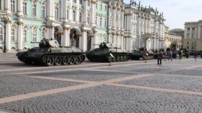 Radziecki militarny wyposażenie czasy druga wojna światowa na patriotycznej akci, dedykujący dzień pamięć i żal na P zbiory wideo