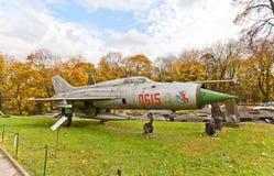 Radziecki naddźwiękowy myśliwa odrzutowego samolot MiG-21 Obrazy Royalty Free