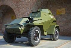Radziecki opancerzony samochód BA-64 Wystawa militarny wyposażenie przy Nizhny Novgorod Kremlin Zdjęcia Stock