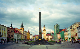 Radziecki pomnik, Banska Bystrica, Sistani Obraz Stock