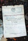 Radziecki rejestru papier 8 dodatkowy ręk żakieta eps kartoteki formata ilustrator Numerowy atrament 1 Rocznika yello Fotografia Royalty Free