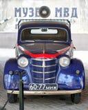 Radziecki retro samochód policyjny Moskvich-401 1954 Zdjęcie Stock