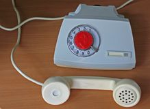 Radziecki retro telefonu set Fotografia Stock