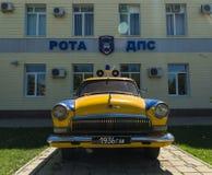 Radziecki samochód policyjny Anapa Rosja Krasnodarskiy Kray 04 06 2017 Obraz Royalty Free
