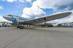 Radziecki samolot Lisunov Li-2, Węgierska linia lotnicza Malev Zdjęcia Royalty Free