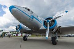 Radziecki samolot Lisunov Li-2, Węgierska linia lotnicza Malev Zdjęcie Stock
