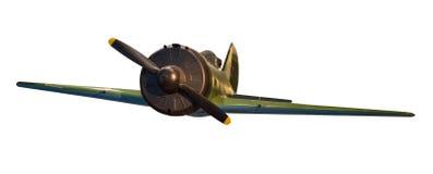 Radziecki samolot odizolowywający na białym tle druga wojna światowa samolotowy frontowy widok zdjęcia royalty free