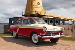 Radziecki stary samochodowy Volga GAZ-21 Zdjęcie Royalty Free