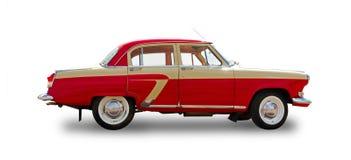 Radziecki stary samochodowy Volga GAZ-21 Biały tło Fotografia Stock