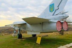 Radziecki wojskowy hebluje w parku Zdjęcie Stock