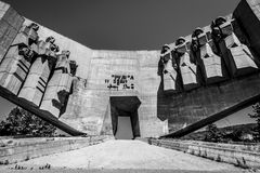 Radziecki zabytek w Bułgarskim mieście Varna Zdjęcie Stock