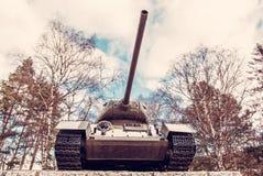 Radziecki zbiornik T-34 druga wojna światowa, Kezmarok, czerwień filtr Obrazy Royalty Free