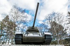 Radziecki zbiornik T-34 druga wojna światowa, Kezmarok, Sistani Zdjęcia Royalty Free